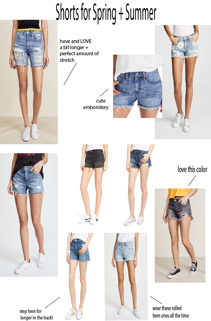 Spring Shorts featured by top US fashion blog Dress Me Blonde; Image of a woman wearing LEVIS shorts and graphic tee.